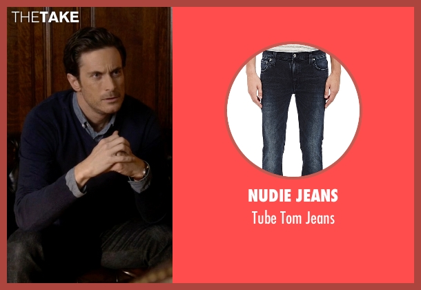 Nudie Jeans black jeans from Scream Queens seen with Wes Gardner (Oliver Hudson)
