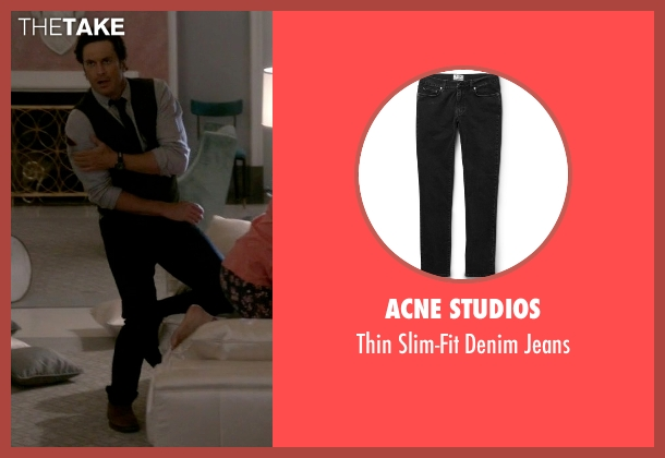 Acne Studios black jeans from Scream Queens seen with Wes Gardner (Oliver Hudson)