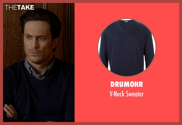 Drumohr blue sweater from Scream Queens seen with Wes Gardner (Oliver Hudson)