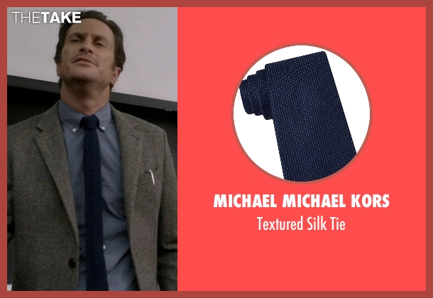 Michael Michael Kors blue tie from Scream Queens seen with Wes Gardner (Oliver Hudson)