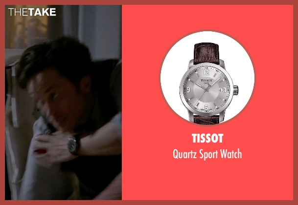 Tissot brown watch from Scream Queens seen with Wes Gardner (Oliver Hudson)