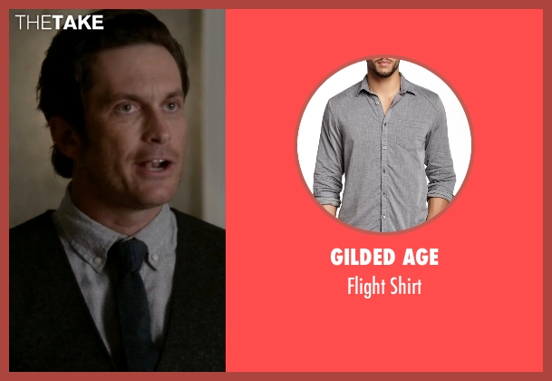 Gilded Age gray shirt from Scream Queens seen with Wes Gardner (Oliver Hudson)