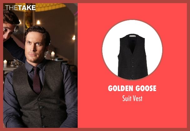 Golden Goose gray vest from Scream Queens seen with Wes Gardner (Oliver Hudson)