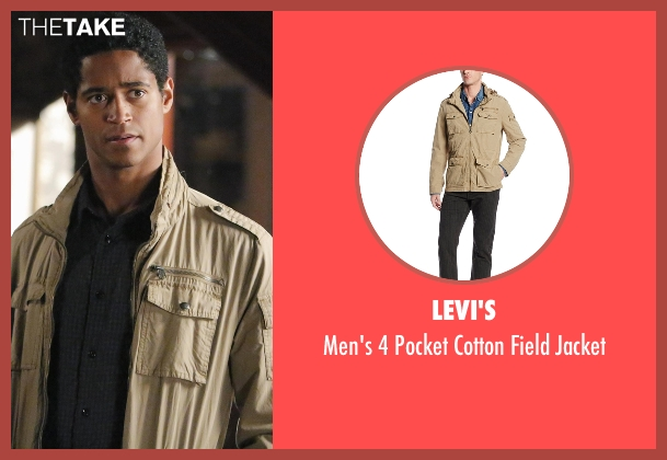 Levi's beige jacket from How To Get Away With Murder seen with Wes Gibbins (Alfred Enoch)