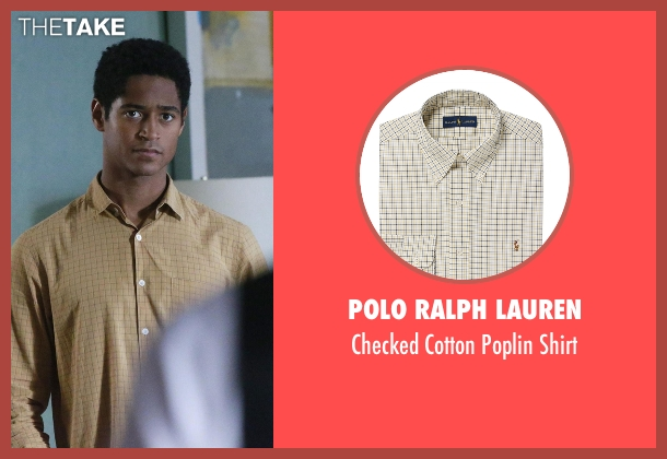 Polo Ralph Lauren beige shirt from How To Get Away With Murder seen with Wes Gibbins (Alfred Enoch)