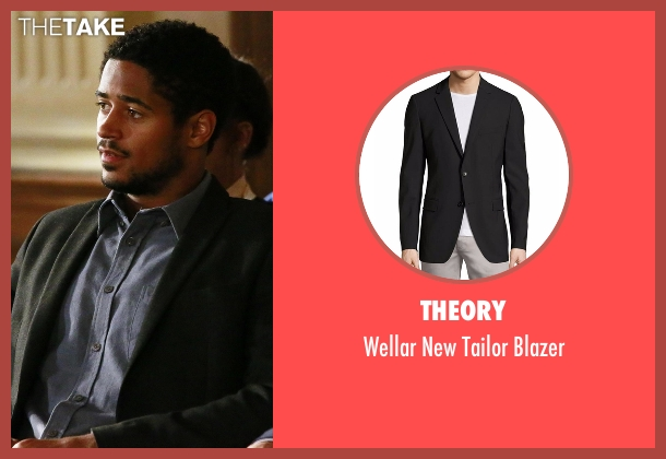 Theory black blazer from How To Get Away With Murder seen with Wes Gibbins (Alfred Enoch)