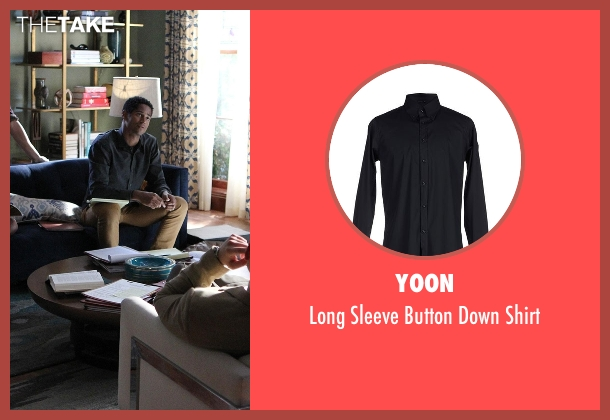 Yoon black shirt from How To Get Away With Murder seen with Wes Gibbins (Alfred Enoch)
