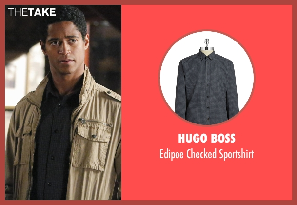 Hugo Boss black sportshirt from How To Get Away With Murder seen with Wes Gibbins (Alfred Enoch)