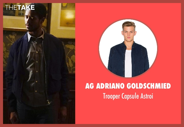 AG Adriano Goldschmied blue astroi from How To Get Away With Murder seen with Wes Gibbins (Alfred Enoch)