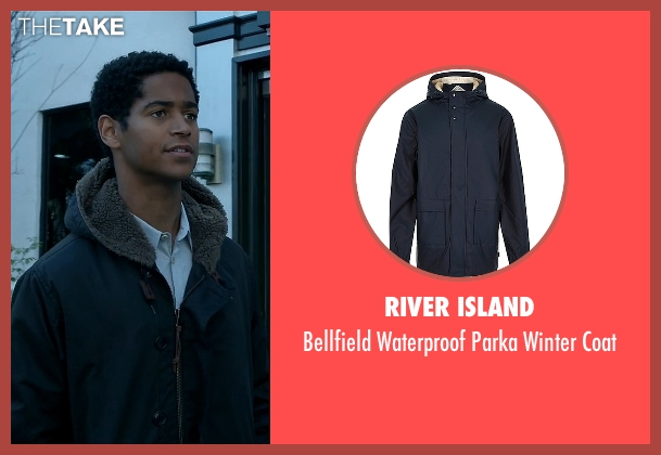 River Island blue coat from How To Get Away With Murder seen with Wes Gibbins (Alfred Enoch)