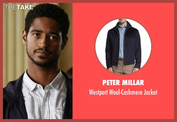 Peter Millar blue jacket from How To Get Away With Murder seen with Wes Gibbins (Alfred Enoch)