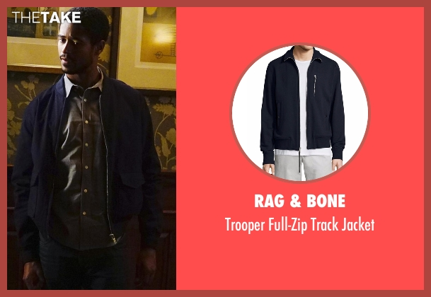 Rag & Bone  blue jacket from How To Get Away With Murder seen with Wes Gibbins (Alfred Enoch)