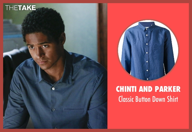 Chinti And Parker blue shirt from How To Get Away With Murder seen with Wes Gibbins (Alfred Enoch)