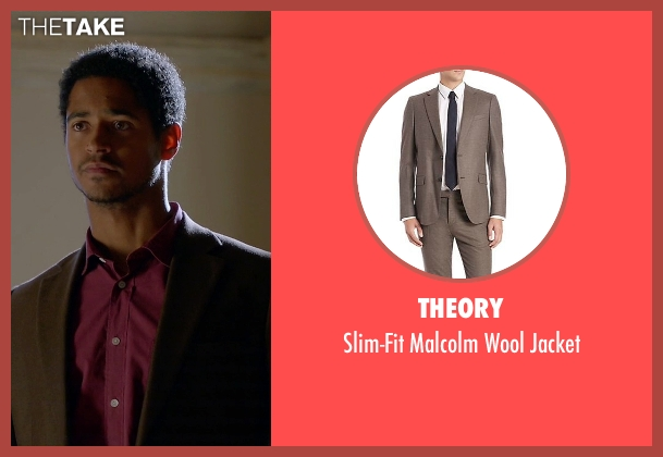 Theory brown jacket from How To Get Away With Murder seen with Wes Gibbins (Alfred Enoch)