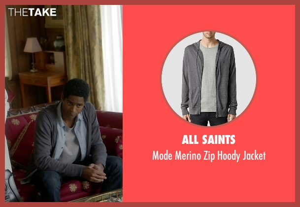 All Saints gray jacket from How To Get Away With Murder seen with Wes Gibbins (Alfred Enoch)