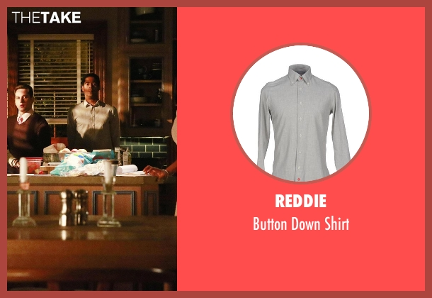 Reddie gray shirt from How To Get Away With Murder seen with Wes Gibbins (Alfred Enoch)