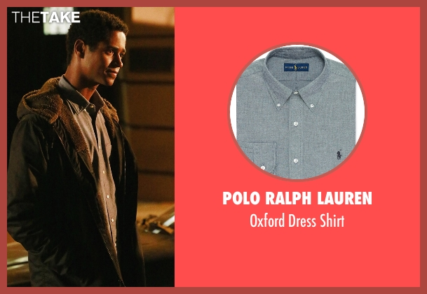 Polo Ralph Lauren gray shirt from How To Get Away With Murder seen with Wes Gibbins (Alfred Enoch)