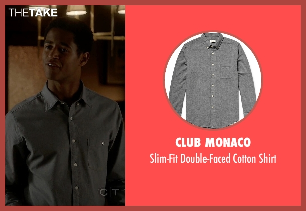 Club Monaco gray shirt from How To Get Away With Murder seen with Wes Gibbins (Alfred Enoch)