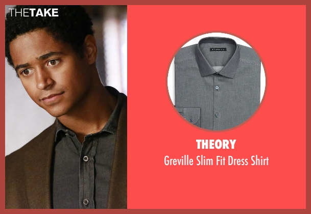 Theory gray shirt from How To Get Away With Murder seen with Wes Gibbins (Alfred Enoch)