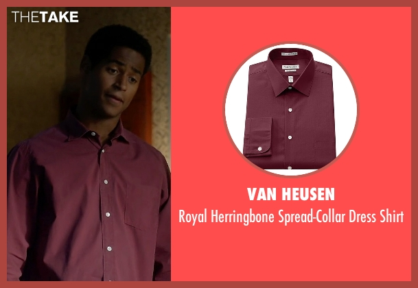 Van Heusen red shirt from How To Get Away With Murder seen with Wes Gibbins (Alfred Enoch)