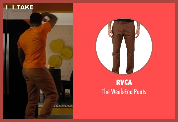RVCA brown pants from Chi-Raq seen with Wesley Snipes (Cyclops)