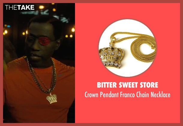 Bitter Sweet Store gold necklace from Chi-Raq seen with Wesley Snipes (Cyclops)