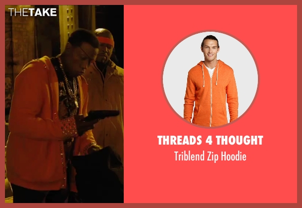 Threads 4 Thought orange hoodie from Chi-Raq seen with Wesley Snipes (Cyclops)