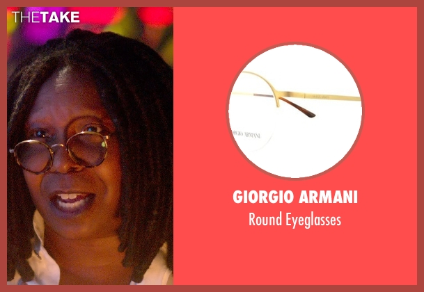 Giorgio Armani gold eyeglasses from Top Five seen with Whoopi Goldberg (Unknown Character)