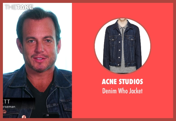 Acne Studios blue jacket from Chelsea seen with Will Arnett