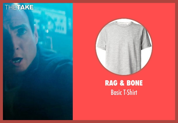 Rag & Bone gray t-shirt from Teenage Mutant Ninja Turtles (2014) seen with Will Arnett (Vernon Fenwick)