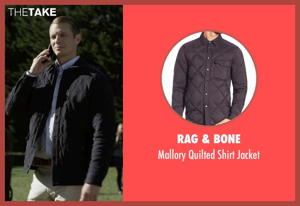Rag & Bone black jacket from House of Cards seen with Will Conway (Joel Kinnaman)