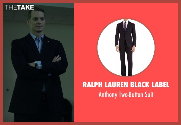 Ralph Lauren Black Label black suit from House of Cards seen with Will Conway (Joel Kinnaman)
