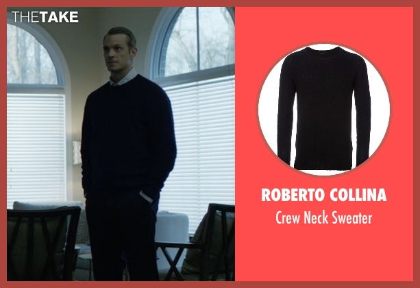 Roberto Collina black sweater from House of Cards seen with Will Conway (Joel Kinnaman)