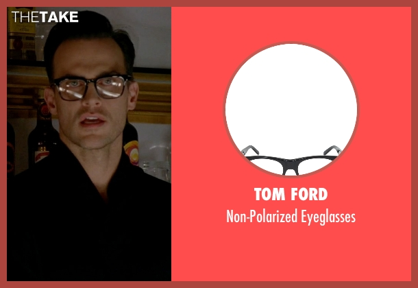 Tom Ford black eyeglasses from American Horror Story seen with Will Drake (Cheyenne Jackson)