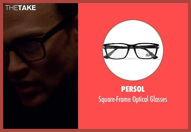 Persol black glasses from American Horror Story seen with Will Drake (Cheyenne Jackson)