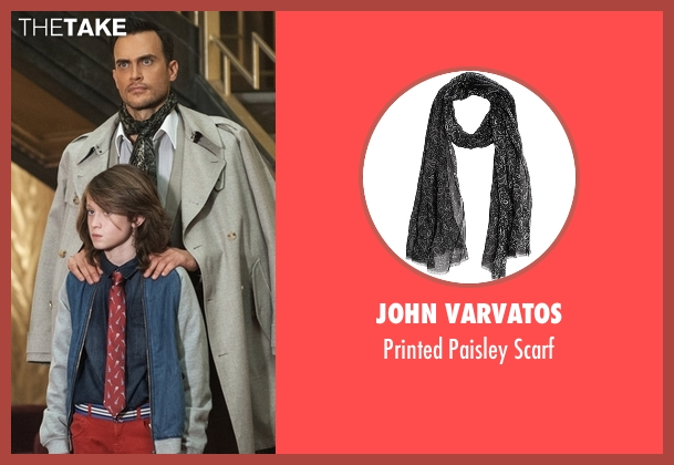 John Varvatos black scarf from American Horror Story seen with Will Drake (Cheyenne Jackson)