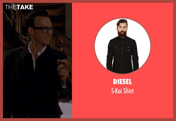 Diesel black shirt from American Horror Story seen with Will Drake (Cheyenne Jackson)