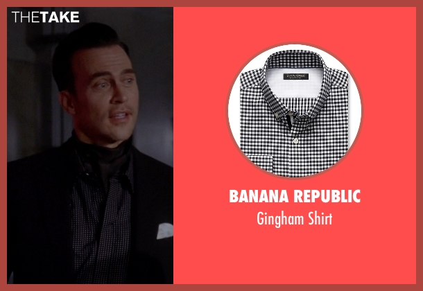 Banana Republic black shirt from American Horror Story seen with Will Drake (Cheyenne Jackson)