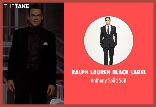 Ralph Lauren Black Label black suit from American Horror Story seen with Will Drake (Cheyenne Jackson)