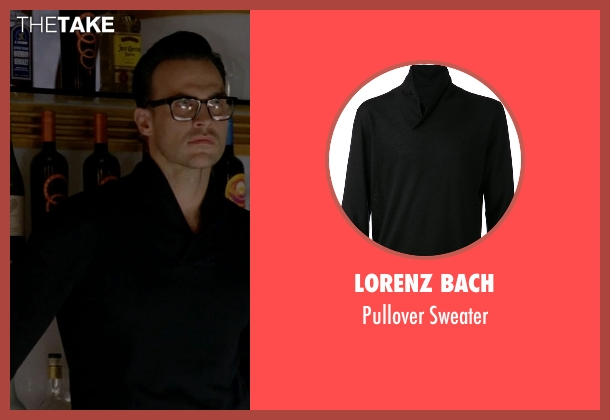 Lorenz Bach black sweater from American Horror Story seen with Will Drake (Cheyenne Jackson)