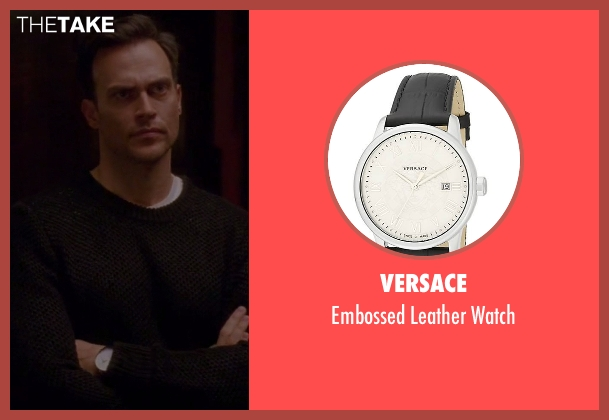 Versace black watch from American Horror Story seen with Will Drake (Cheyenne Jackson)