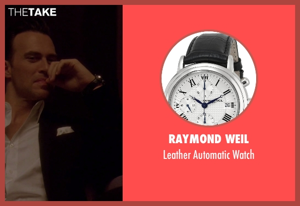 Raymond Weil black watch from American Horror Story seen with Will Drake (Cheyenne Jackson)