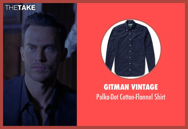 Gitman Vintage blue shirt from American Horror Story seen with Will Drake (Cheyenne Jackson)