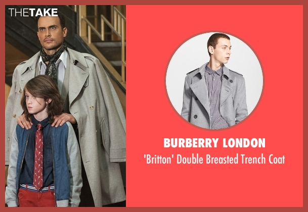 Burberry London gray coat from American Horror Story seen with Will Drake (Cheyenne Jackson)