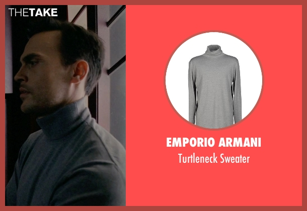 Emporio Armani gray sweater from American Horror Story seen with Will Drake (Cheyenne Jackson)