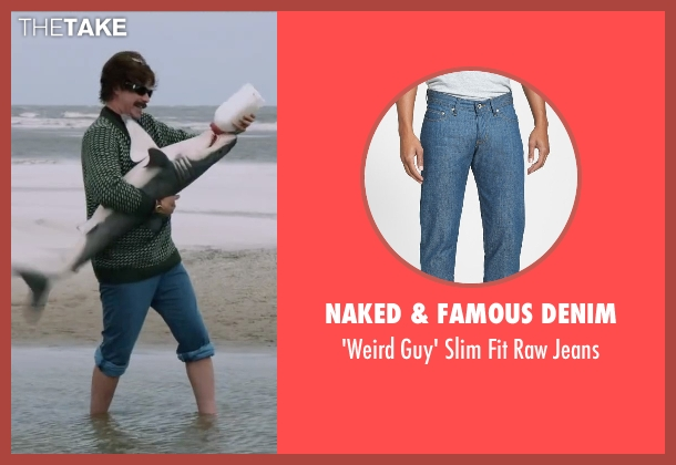 Naked & Famous Denim blue jeans from Anchorman 2: The Legend Continues seen with Will Ferrell (Ron Burgundy)