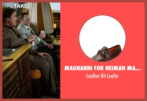 Magnanni for Neiman Marcus brown loafer from Anchorman 2: The Legend Continues seen with Will Ferrell (Ron Burgundy)