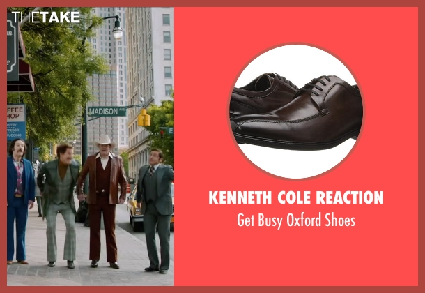 Kenneth Cole Reaction brown shoes from Anchorman 2: The Legend Continues seen with Will Ferrell (Ron Burgundy)