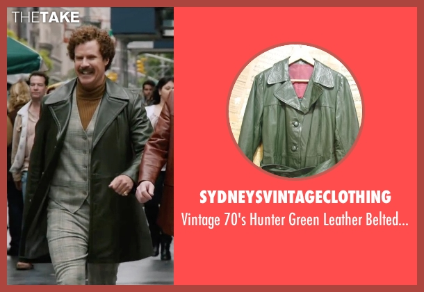 Sydneysvintageclothing green jacket from Anchorman 2: The Legend Continues seen with Will Ferrell (Ron Burgundy)