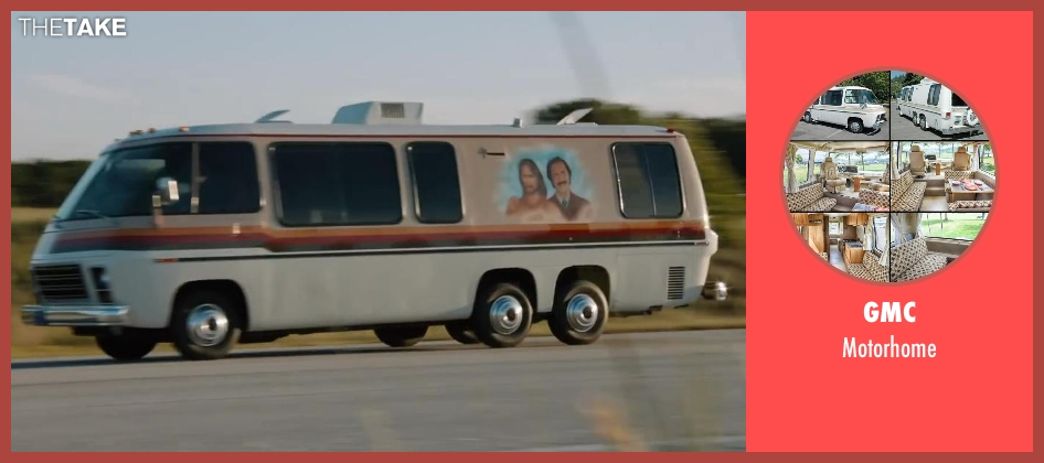 GMC motorhome from Anchorman 2: The Legend Continues seen with Will Ferrell (Ron Burgundy)